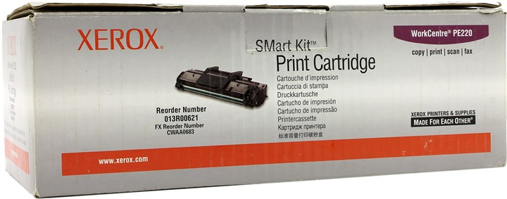Image of compatible xerox 013r00621 high capacity black laser toner cartridge for the workcentre pe220