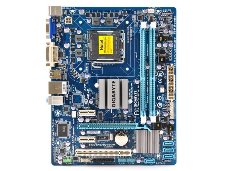 Матплата gigabyte g41mt-s2p lts775 ig41 pci-e+svga+gblan sata microatx 2ddr-iiigt