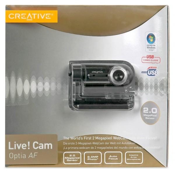 Creative live cam optia af usb webcam
